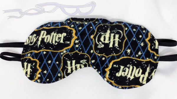Harry Potter logo fabric made into a Luxurious Sleep Mask