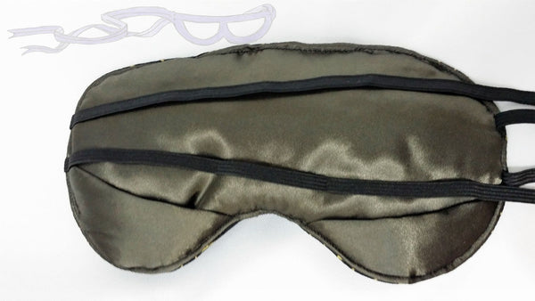 My sleep masks have extra fluff in the middle and additional padding at the bottom of the eyes to eliminate light around the nose.