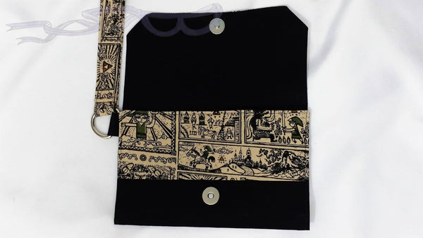 Video game purse made with Wind Waker Scrolls fabric. No Capes Store