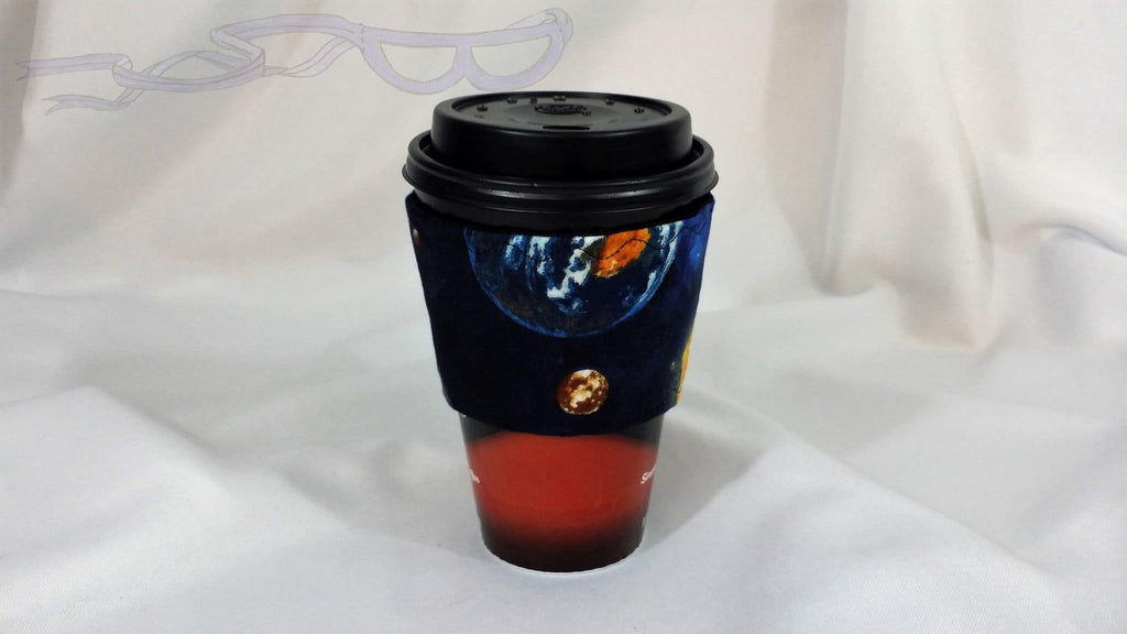 Space Planets Hot Coffee Jacket Hot Coffee Jacket, Coffee Cozy, Coffee Sleeve, Reusable Coffee Jacket, Java Jacket, Coffee Lover Gift