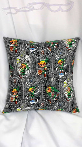 Legend of Zelda fabric made into a video game pillow cover