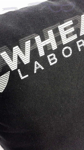 "Aperture logo with, ""Wheatley Laboratories"" on a black background"