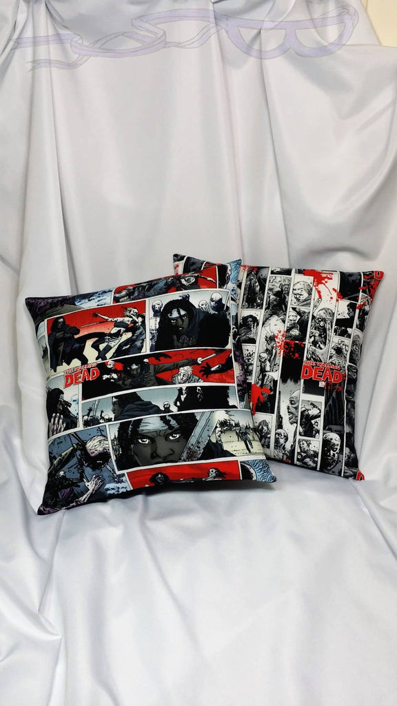 comic book decoration made from walking dead fabric