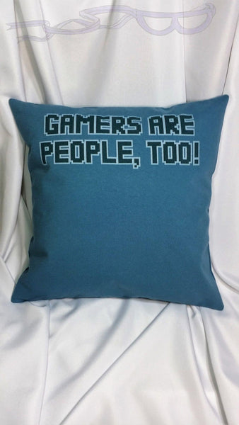 Video game fan gift. Video gamer gift for the couch, den, or bedroom. Gamers are people too! General video game bedding. Video game decor.