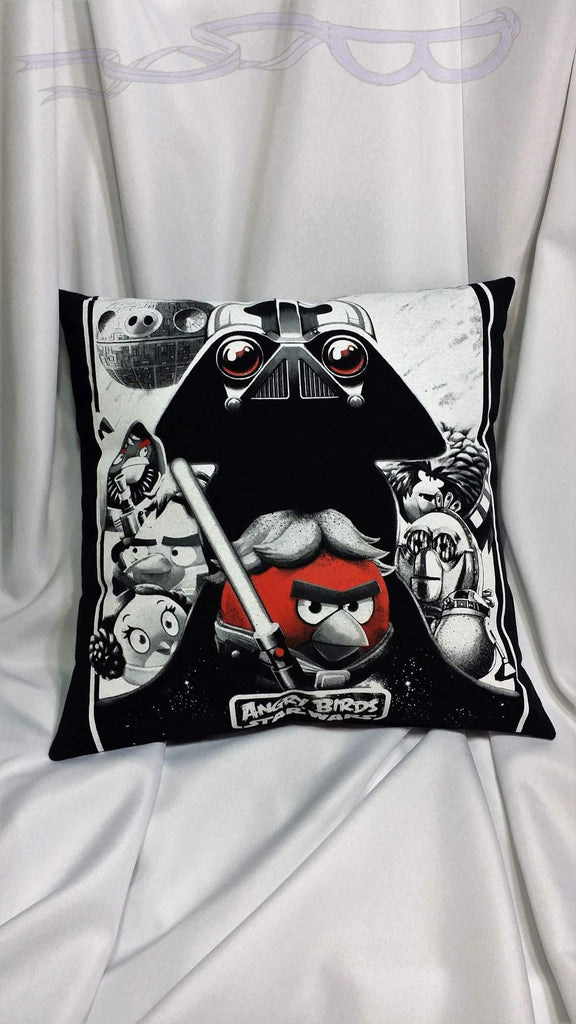 Star Wars Angry Birds t shirt made into a pillow cover.