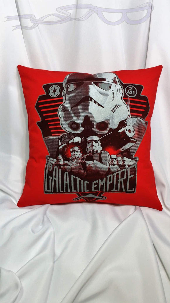 TK 421 t shirt made into a decorative pillow cover.