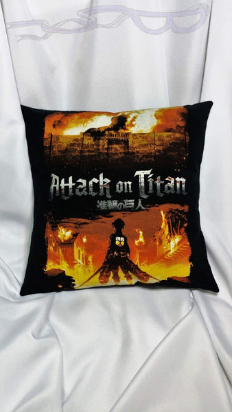 Manga bedding made from Attack on Titan tshirt. 進撃の巨人