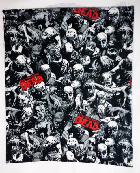 Walking Dead Comic Panel fabric made into a small blanket.