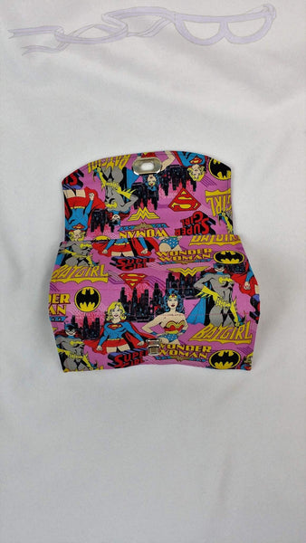 This comic book handbag is made from DC comics character fabric.