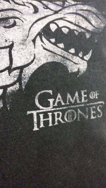 Game of Thrones house T shirt made into a throw pillow cover. No Capes Store