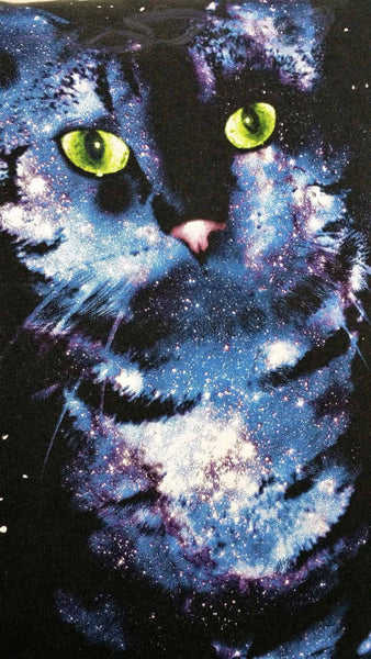 Galaxy cat pillow cover. Space cat bedding, kitty cat decor, cat lady gifts, feline pillow cover, cat throw, cat cushion,