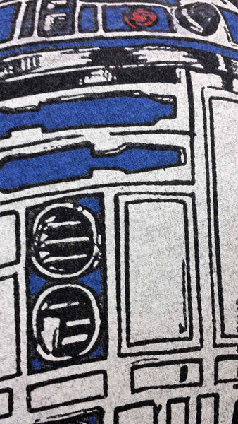 Star Wars R2D2 t shirt made into a decorative pillow cover.
