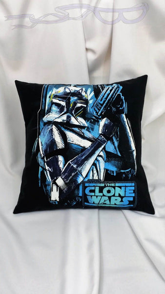 features Boba Fett in white and blue hues with the Star Wars The Clone Wars logo, all on a black background