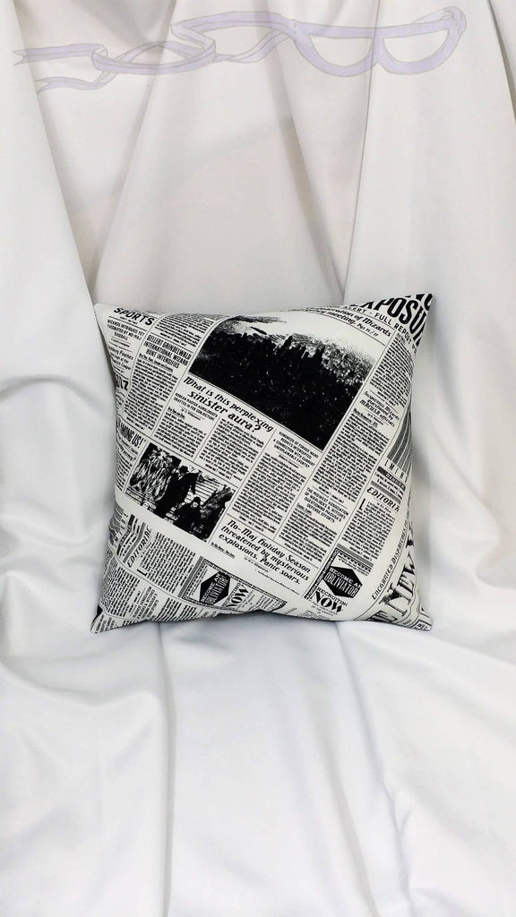 Fantastic Beasts and Where to Find Them fabric made into a cotton throw pillow cover. Book & movie decor feat. Harry Potter world cotton