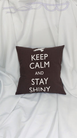 Firefly tshirt made into a pillow cover.