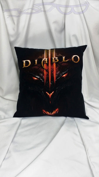 Diablo 3 shirt made into a decorative pillow cover.