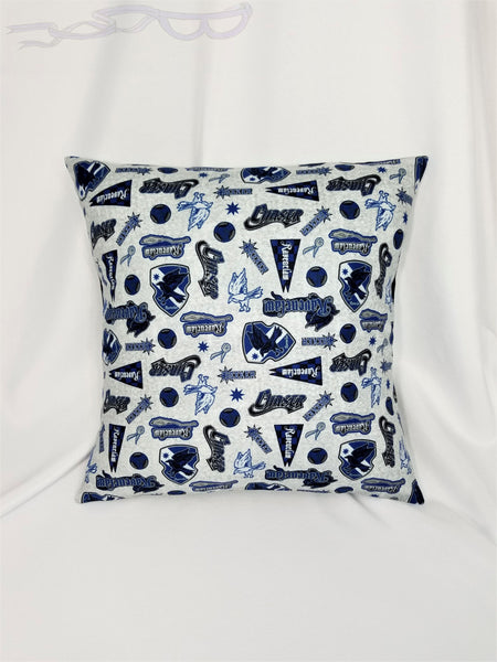 Ravenclaw House fabric made into a cotton throw pillow cover