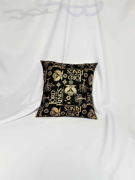 Lord of the Rings fabric made into a pillow cover.
