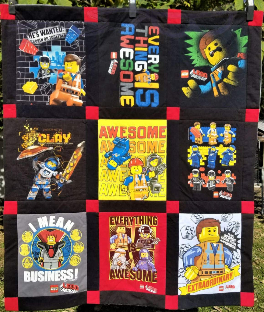 Lego Shirts Made Into A Small Quilt No Capes Store