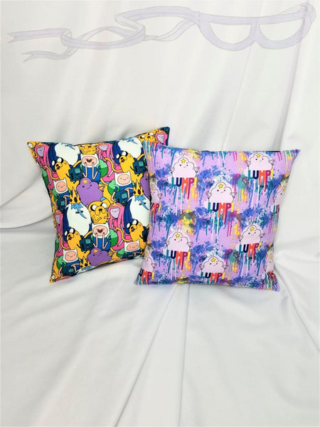 Adventure Time fabric made into a pillow  cover