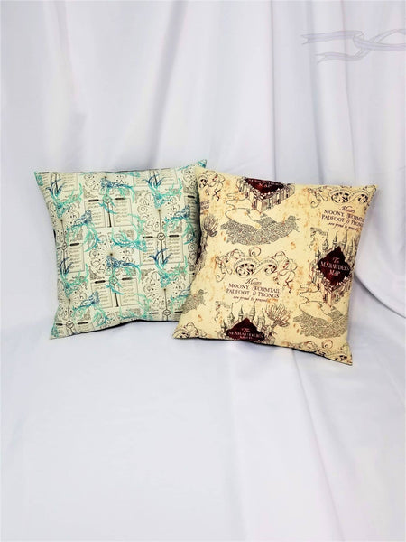 Harry Potter fabric made into cotton pillow cover.