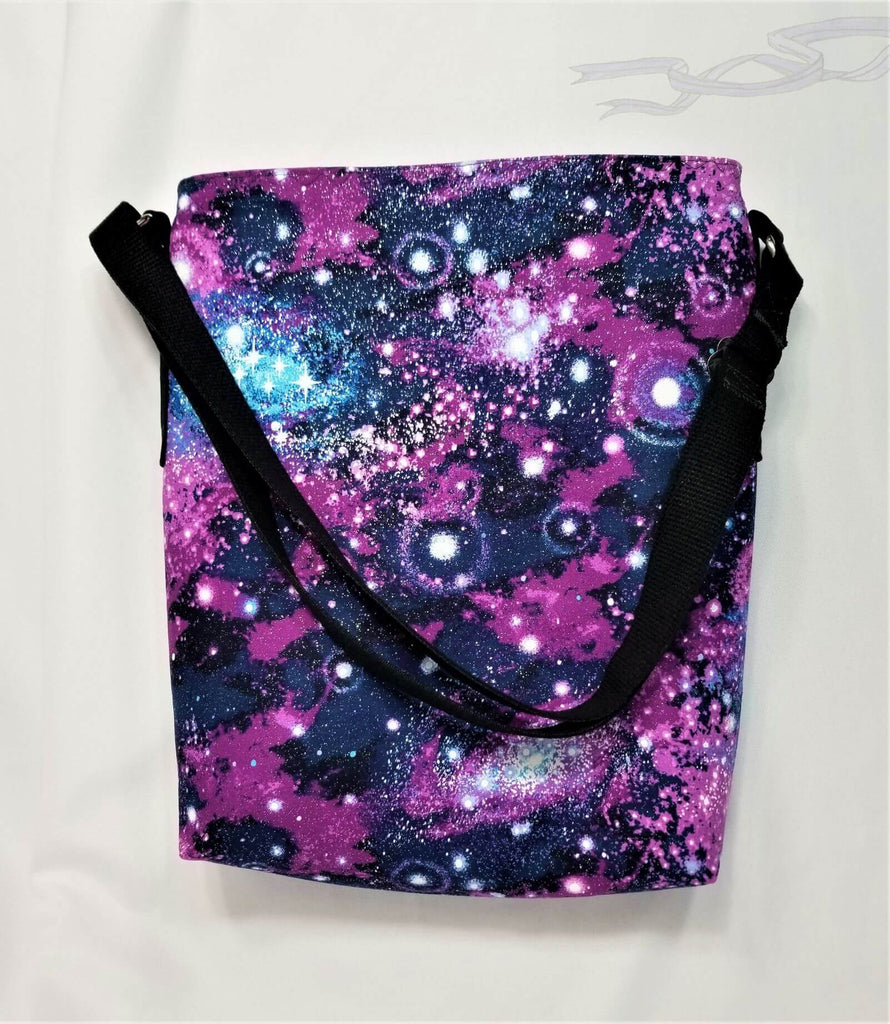 Purple galaxy glitter bag.