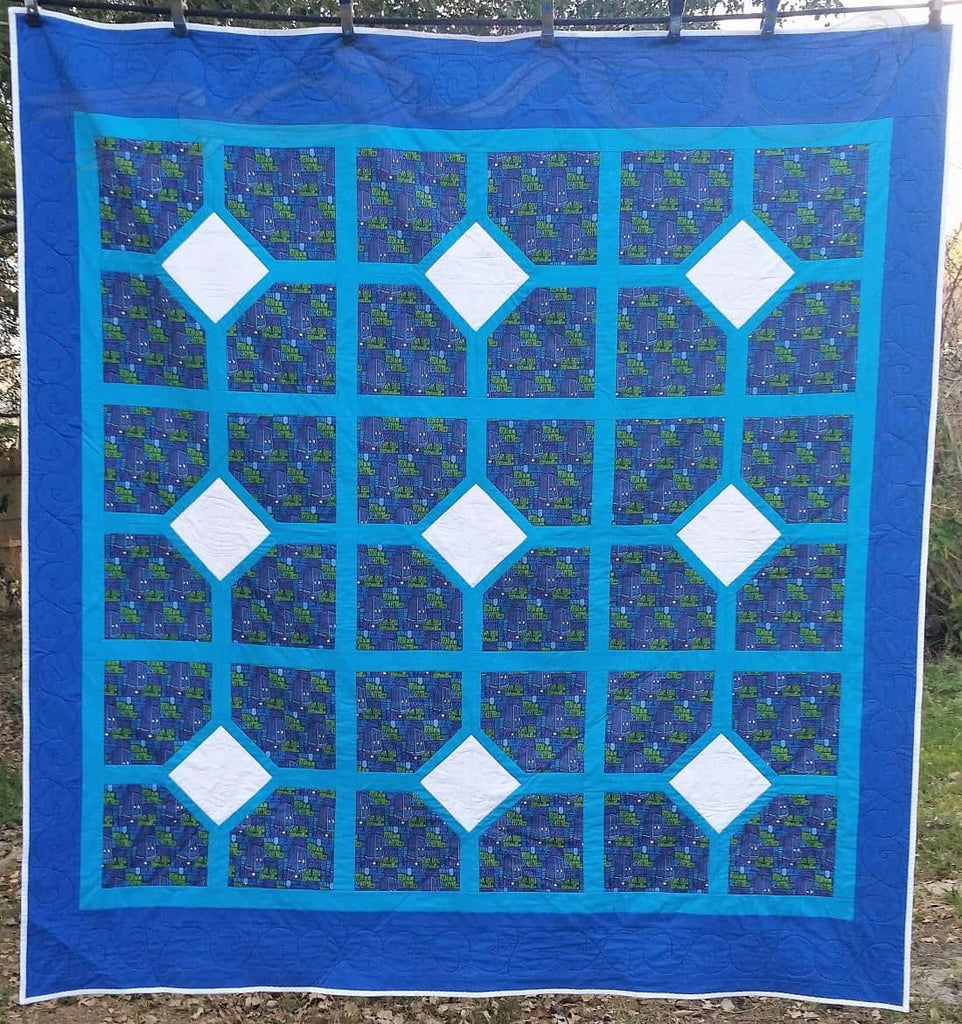 Doctor Who Tardis Fabric Made Into A Quilt No Capes Store