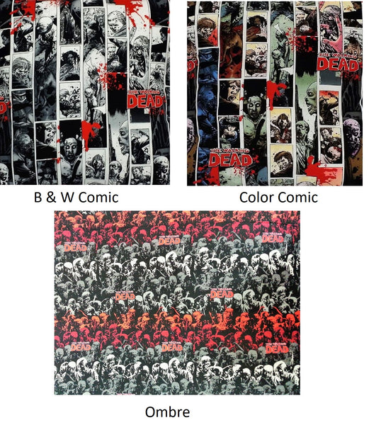 The Walking Dead cotton character fabric just for you. A great gift for any fan for gifts, birthdays, or home decor.