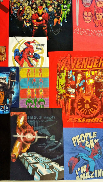 comics quilt made from marvel comics tshirts