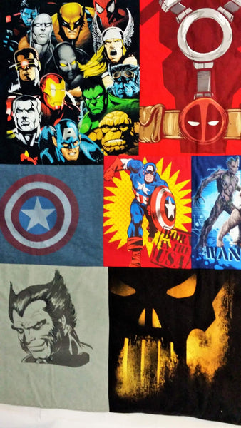 comic book gift idea made from marvel comics tshirts with captain america, thor, iron man, spider-man, wolverine and more.
