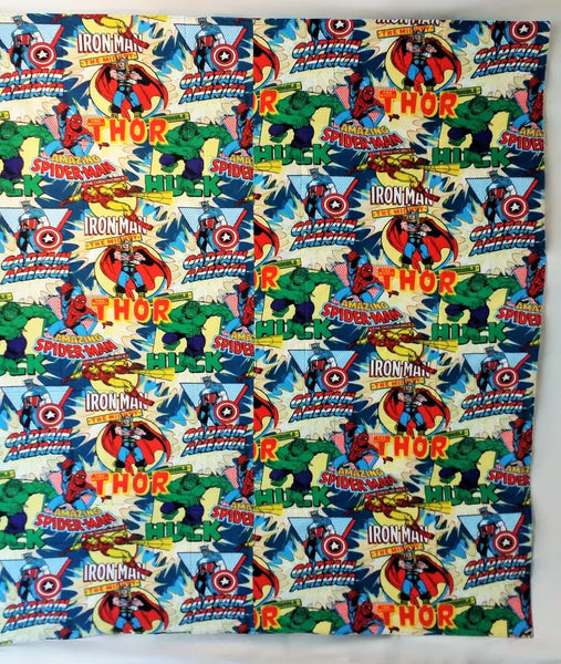 marvel comics tshirt made into a full size quilt, college gift ideas