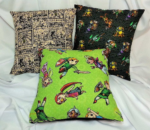Nintendo cotton fabric, Legend of Zelda, Wind Waker Scrolls