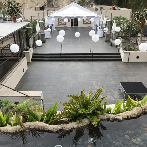 Tent Rental at seven-degrees in Laguna Beach CA