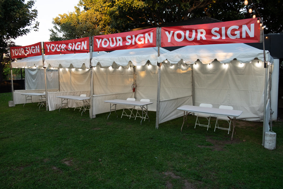 Outdoor Expo Booth Tent Rental in Orange County CA