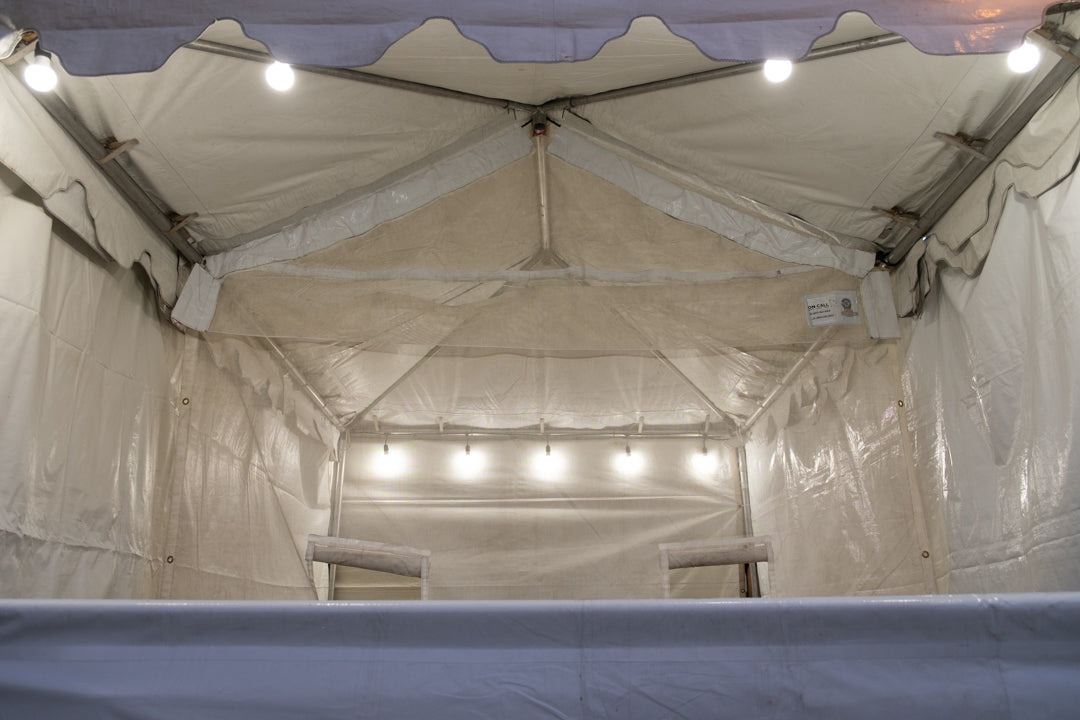 Deluxe Extra Large Food Booth Rental Package In Orange