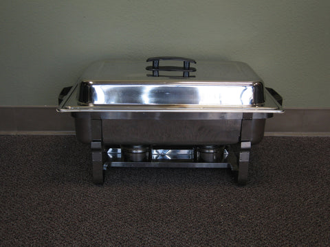 Chaffing Silver Roll-Top Dish