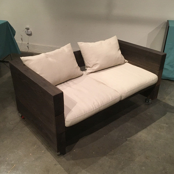 Rustic Industrial Loveseat For Rent