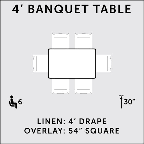 4 ft. Rectangular Banquet Table