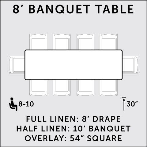 8 ft. Rectangular Banquet Table