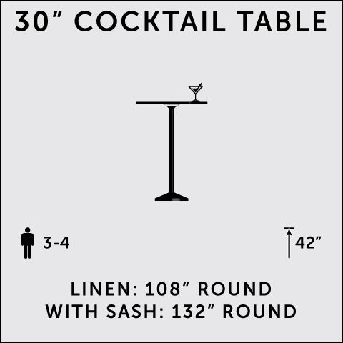 "30"" Cocktail Table (Tall)"