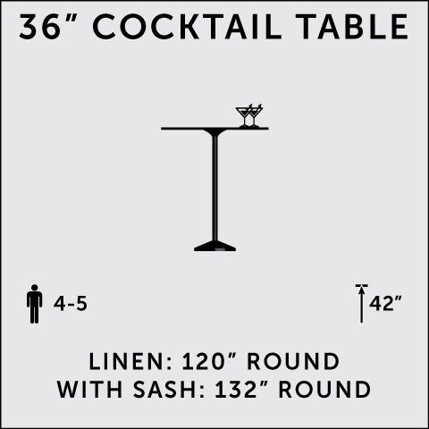 "36"" Cocktail Table (Tall)"