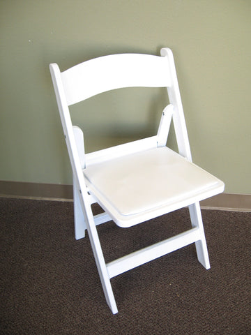 White Comfort Folding Chair