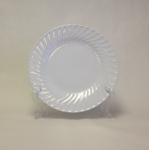 White Swirl Plate Collection