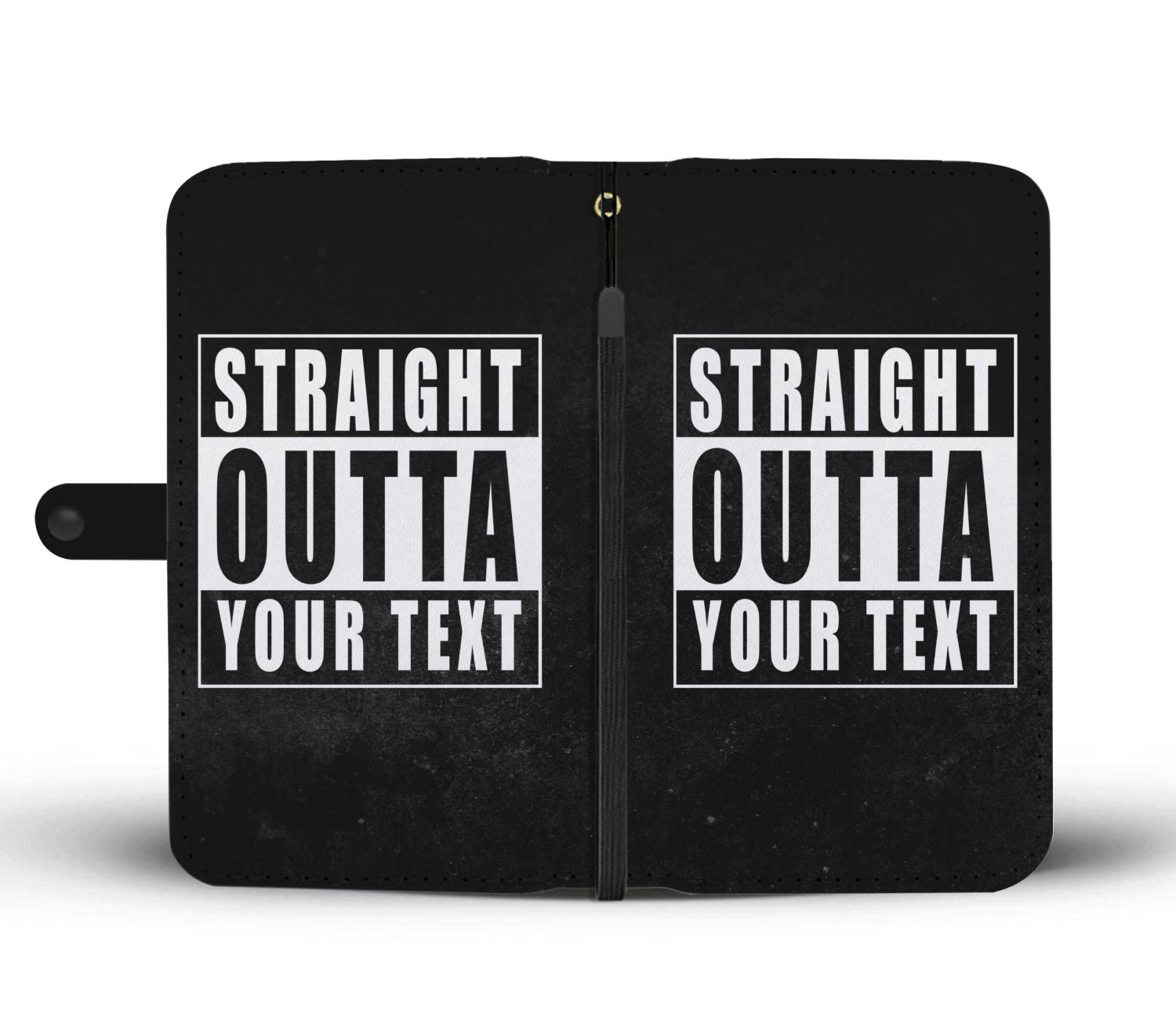 "Straight Outta ""Your Custom Text"" Phone Case sides"