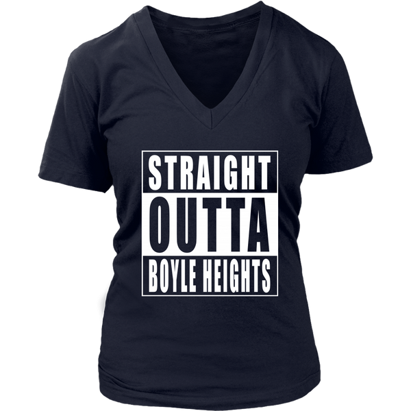 Straight Outta Boyle Heights Womens V- Neck