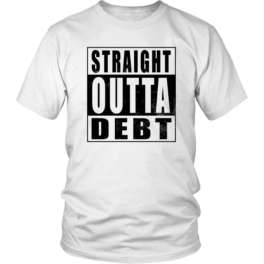 Straight Outta Debt - Black
