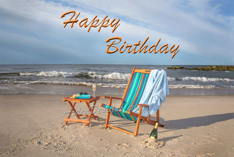 Beach Chair - Birthday