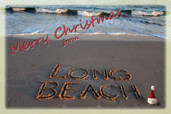 Merry Christmas from Long Beach - 12 Cards