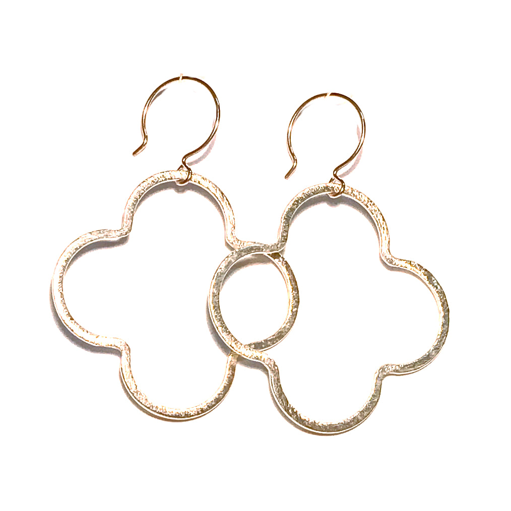 HE 656 Meredith Quatrefoil Drop Earrings
