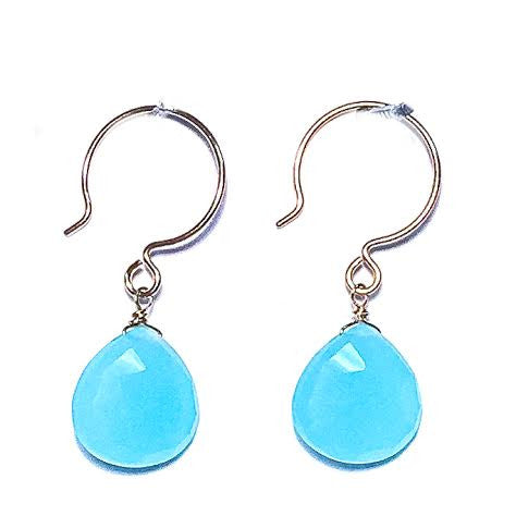 SUSIE Earrings - Single Stone in Chalcedony
